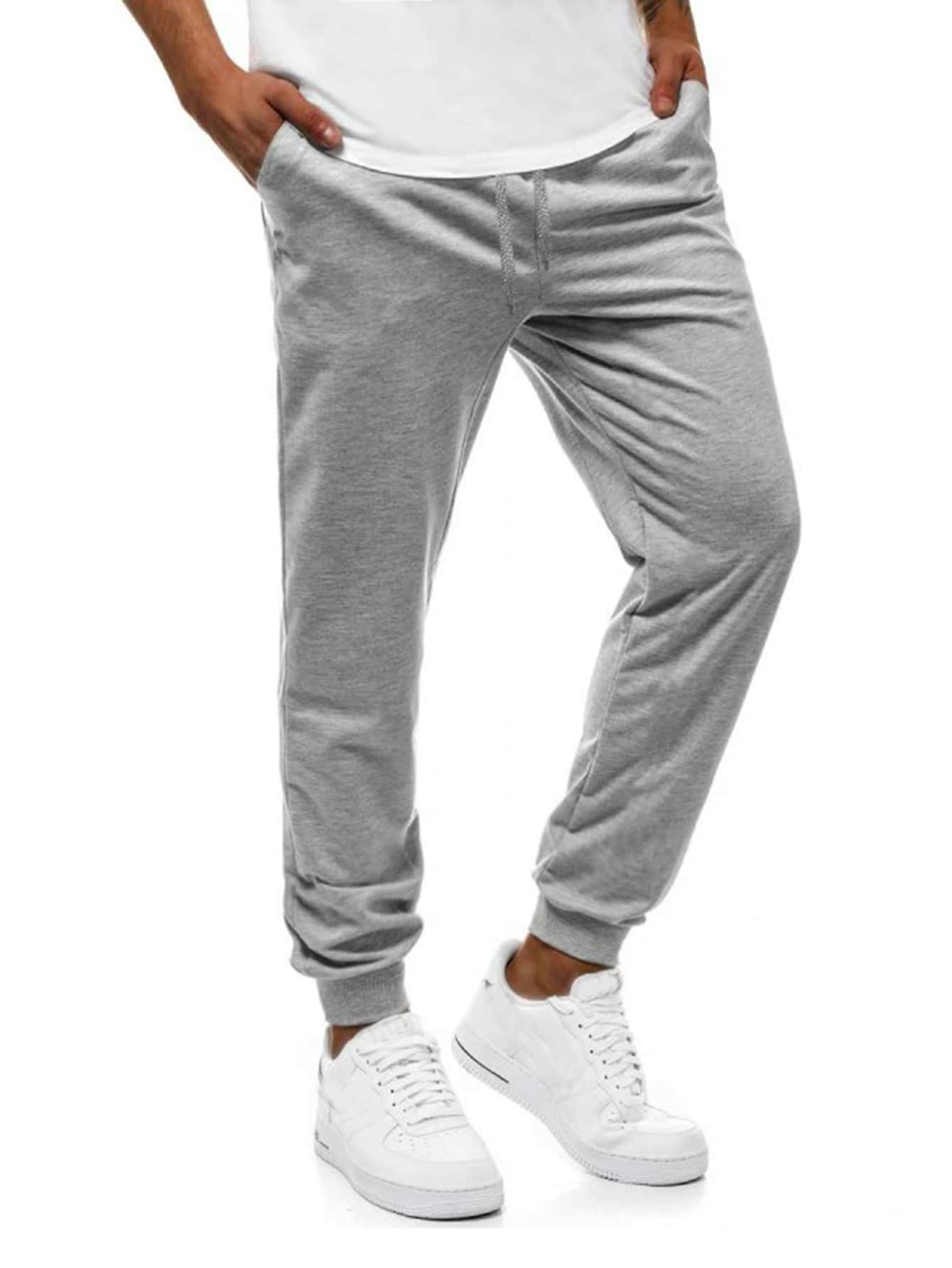 Men Side Pocket Solid Sweatpants