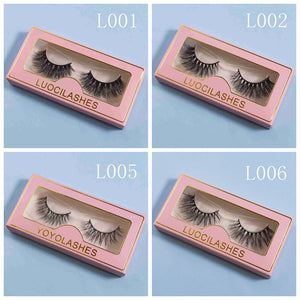 4 pairs of 3D mink lashes L001 L002 L005 L006
