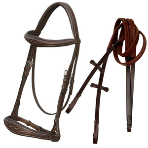 Fancy Stitch Padded Wave Cavesson Bridle