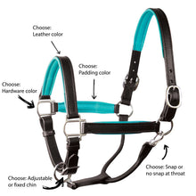Load image into Gallery viewer, Custom Padded Leather Halter