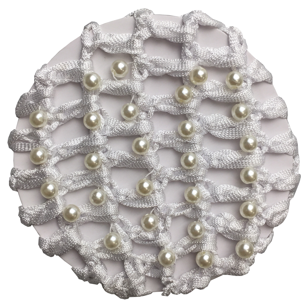 White Pearl Encrusted Hair Net