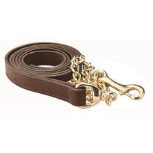 Load image into Gallery viewer, Leather Lead w/chain (6 feet)