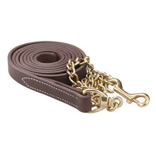 Load image into Gallery viewer, Leather Lead w/ chain (7 feet)