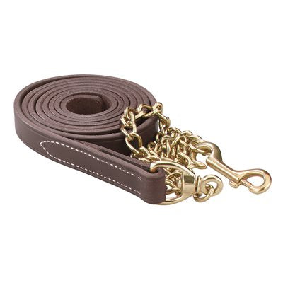 Leather Lead w/ chain (7 feet)