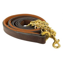 Load image into Gallery viewer, Padded Leather Lead w/chain
