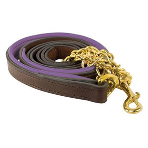 Padded Leather Lead w/chain