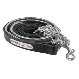 Padded Leather Lead w/chain and plate