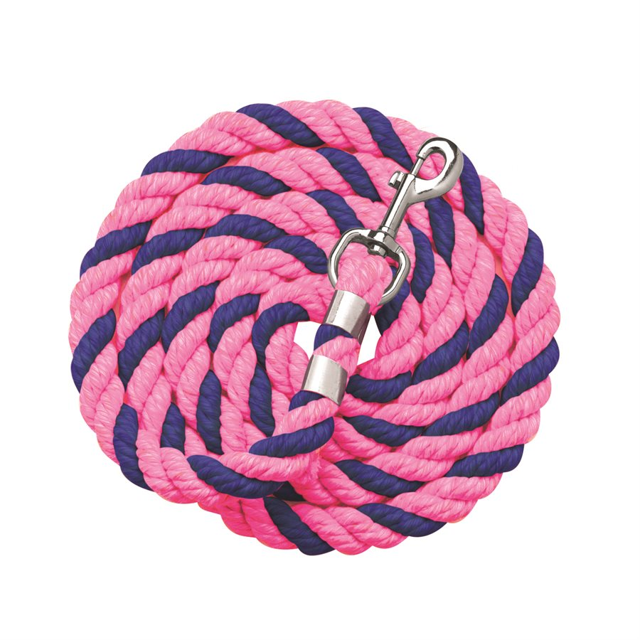 Pink/Royal Blue Cotton Lead