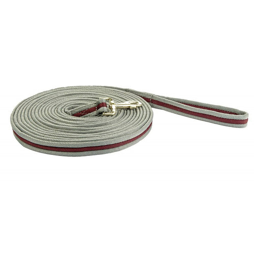 Deep Grey/Deep Red Lunge Line