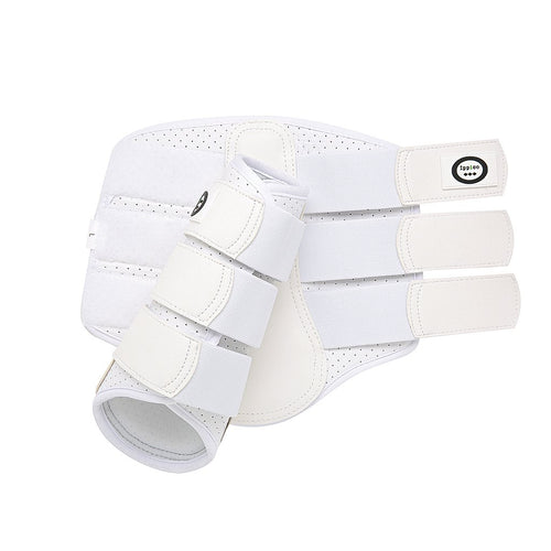 White - Aero Cool Flow Neoprene Brushing Boots - Small size