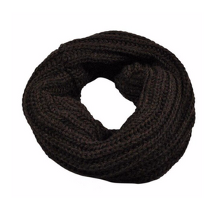 Coffee Women's Knitted Circle Scarf