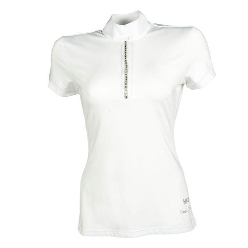 HKM Competition Shirt - Crystal - White - L/AU 12/EU40-HKM-Tacklet