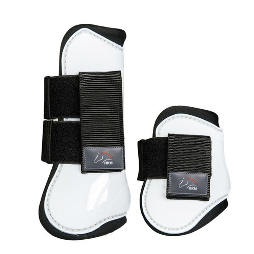 White Tendon and Fetlock Boots - Cob/Full size
