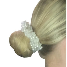 Load image into Gallery viewer, Pearl Hair Bun Scrunchie