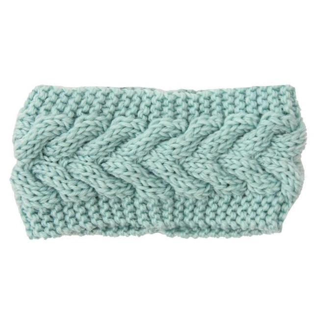 Mint Women's knitted headband ear warmer