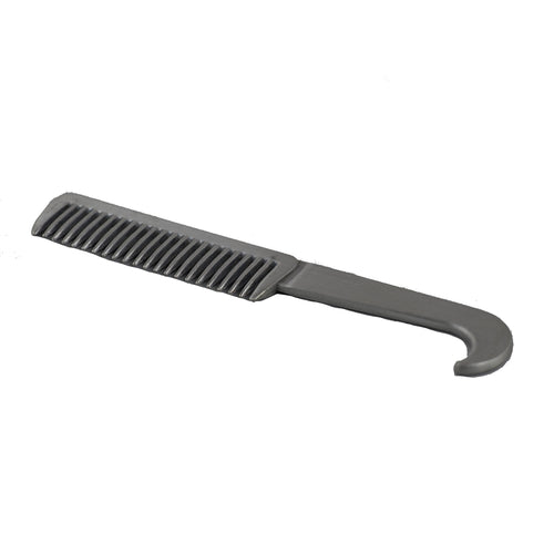 Aluminium Mane Comb with Hoof Pick