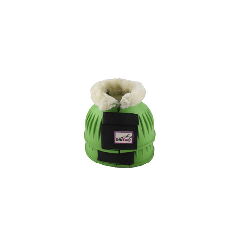 Apple Green Rubber Bell Boots with fleece
