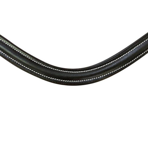 Classic Curved Leather Browband (Black leather)