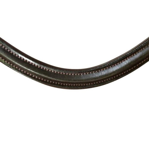 Classic Curved Leather Browband (Brown leather)