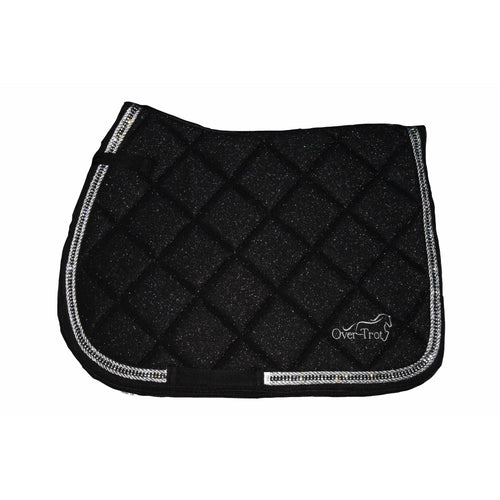 Over-Trot Black Glitter Performance Saddle Pad - All Purpose-Over-Trot-Tacklet