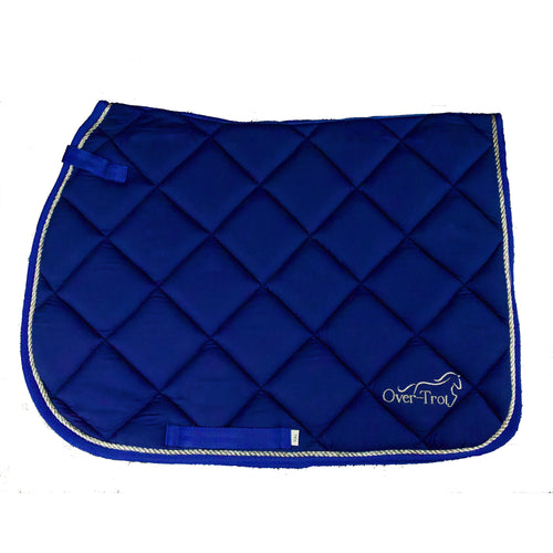 Over-Trot Blue Performance Saddle Pad - All Purpose-Over-Trot-Tacklet
