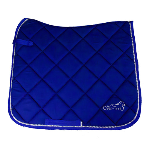 Over-Trot Blue Performance Saddle Pad - Dressage-Over-Trot-Tacklet