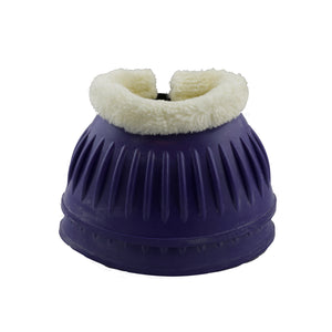 Cadbury Purple Rubber Bell Boots with Fleece - Factory Seconds