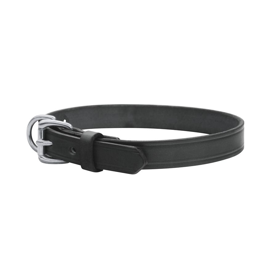 Flat Leather Dog Collar