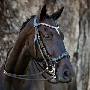 Mila Italian Leather Double Bridle