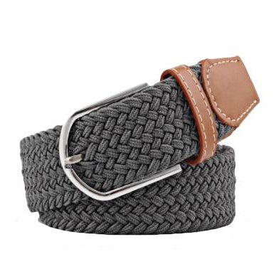 Dark Grey Elastic Braided Belt (Pre-Order)