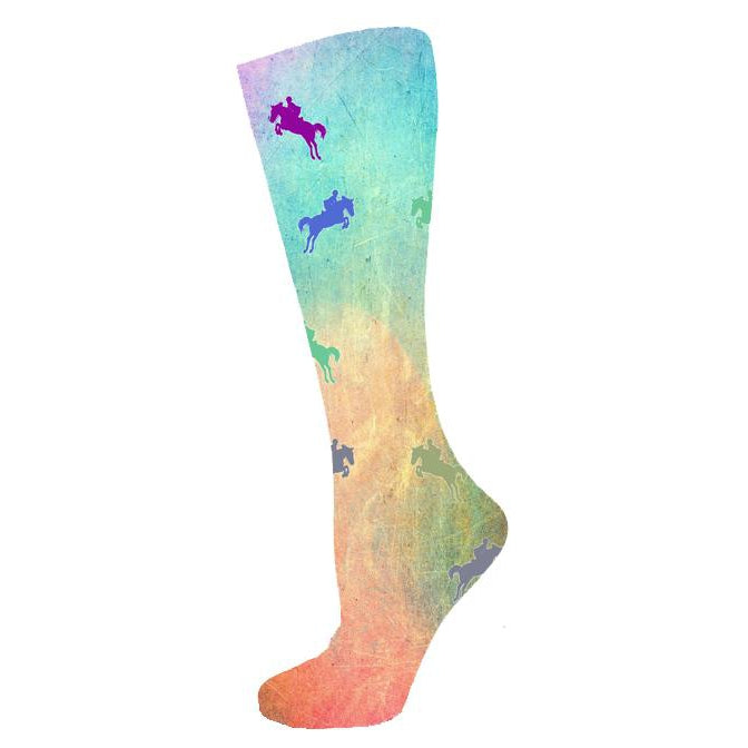 Equestrian Couture Riding Socks - Hunter Jumper Silhouette-InkStables-Tacklet