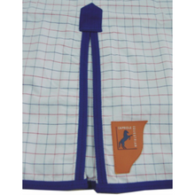 Load image into Gallery viewer, Capriole Equestrian Eco Rose & Royal Blue Polyester Check Rug-Capriole Equestrian-Tacklet