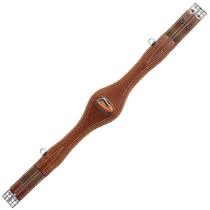 Padded Long Girth w/snap - Brown/Grey/Maroon Elastic