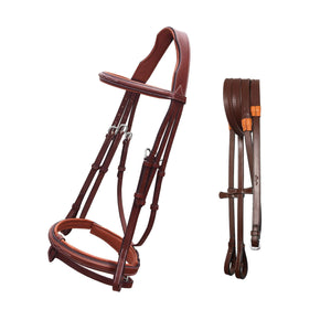 Fancy Stitch Padded Hanoverian Bridle (Convertible)