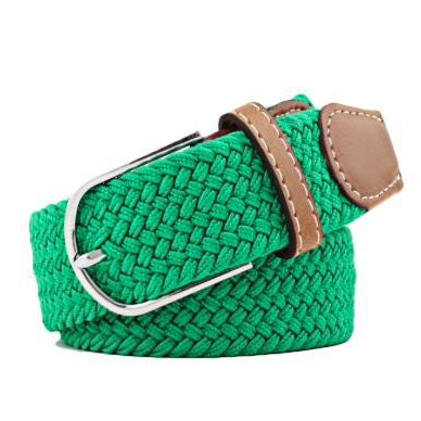 Green Elastic Braided Belt