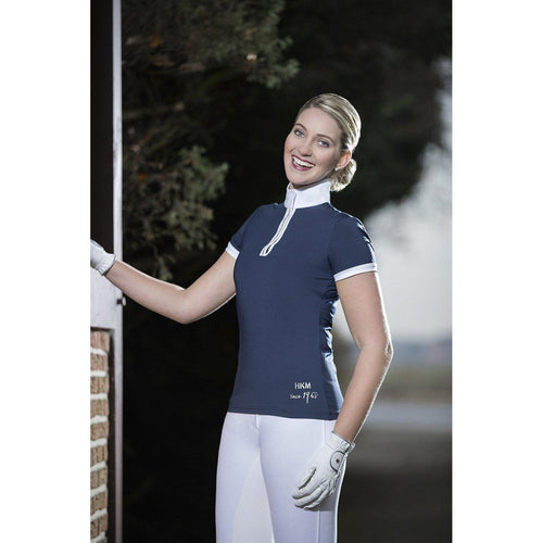 HKM Competition Shirt - Crystal - Navy - L/AU 12/EU40-HKM-Tacklet