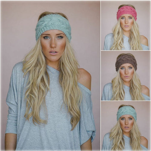 Women's knitted headband ear warmer