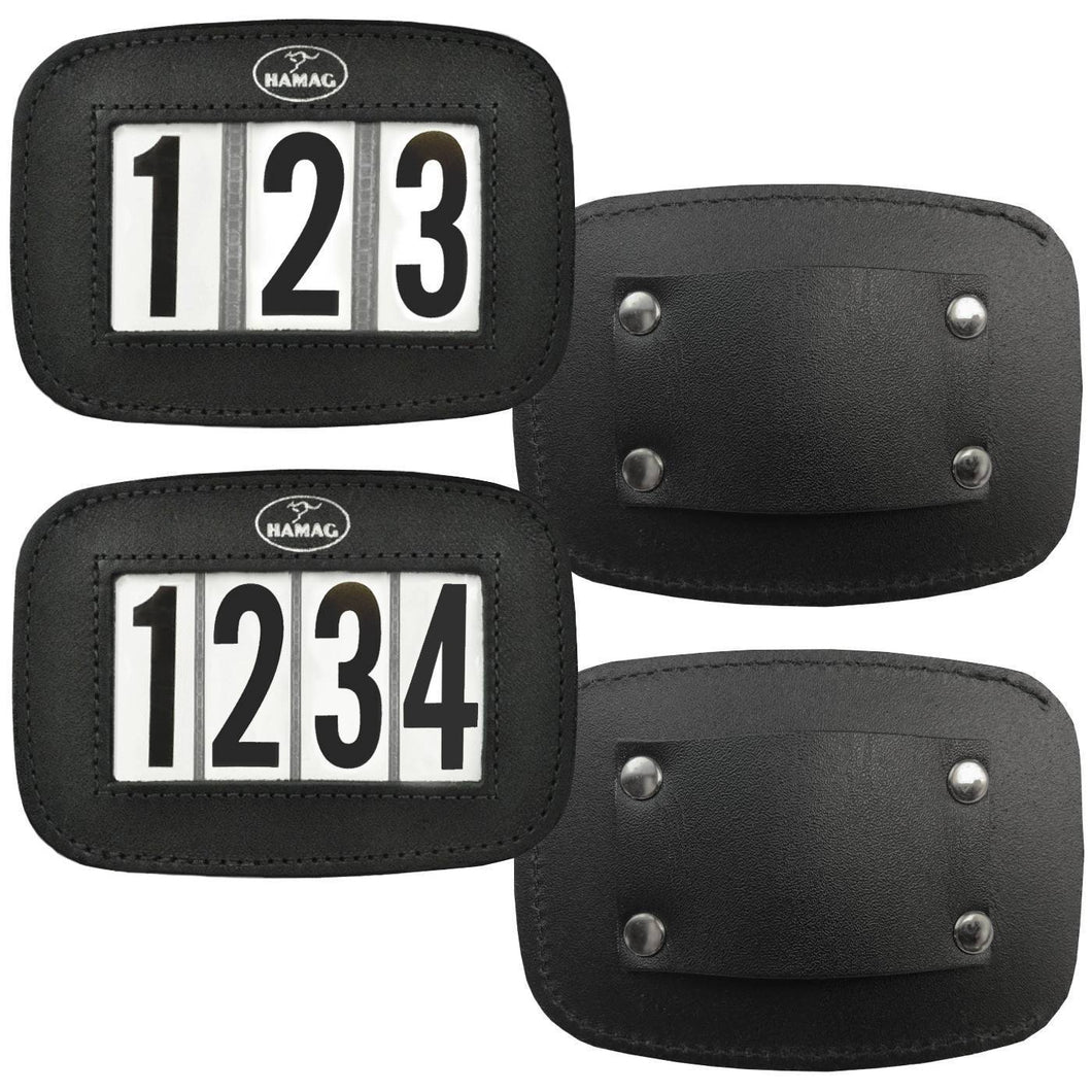 Leather Halter Number Holders (Pair)