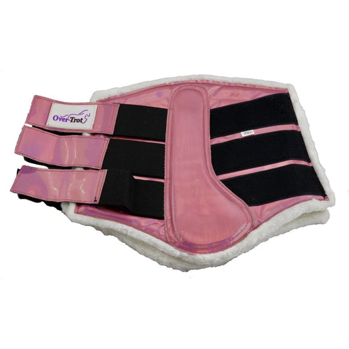 Holographic Pink Tendon Boots - Warmblood size