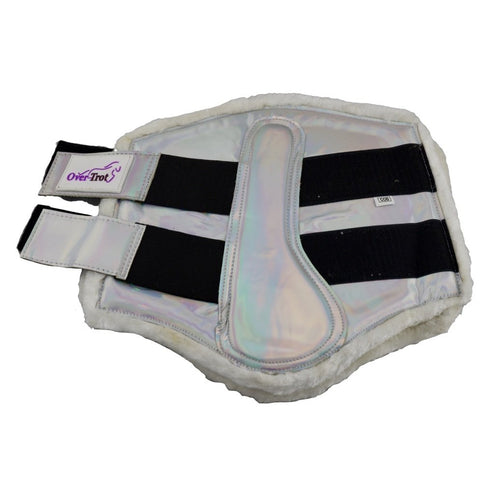 Holographic Silver Tendon Boots - Warmblood size