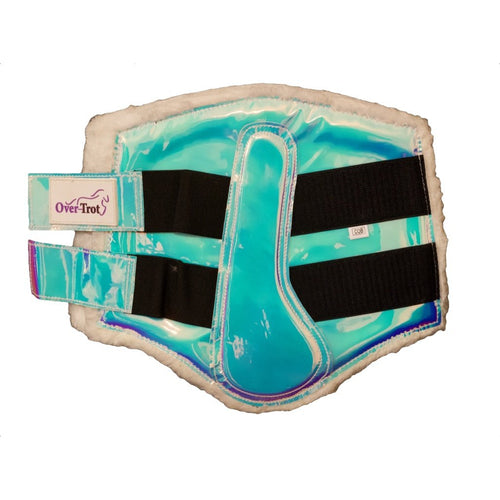 Holographic Turquoise Tendon Boots