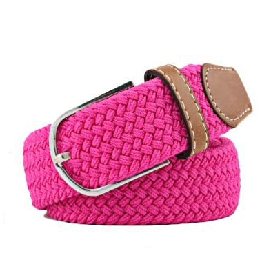 Hot Pink Elastic Braided Belt