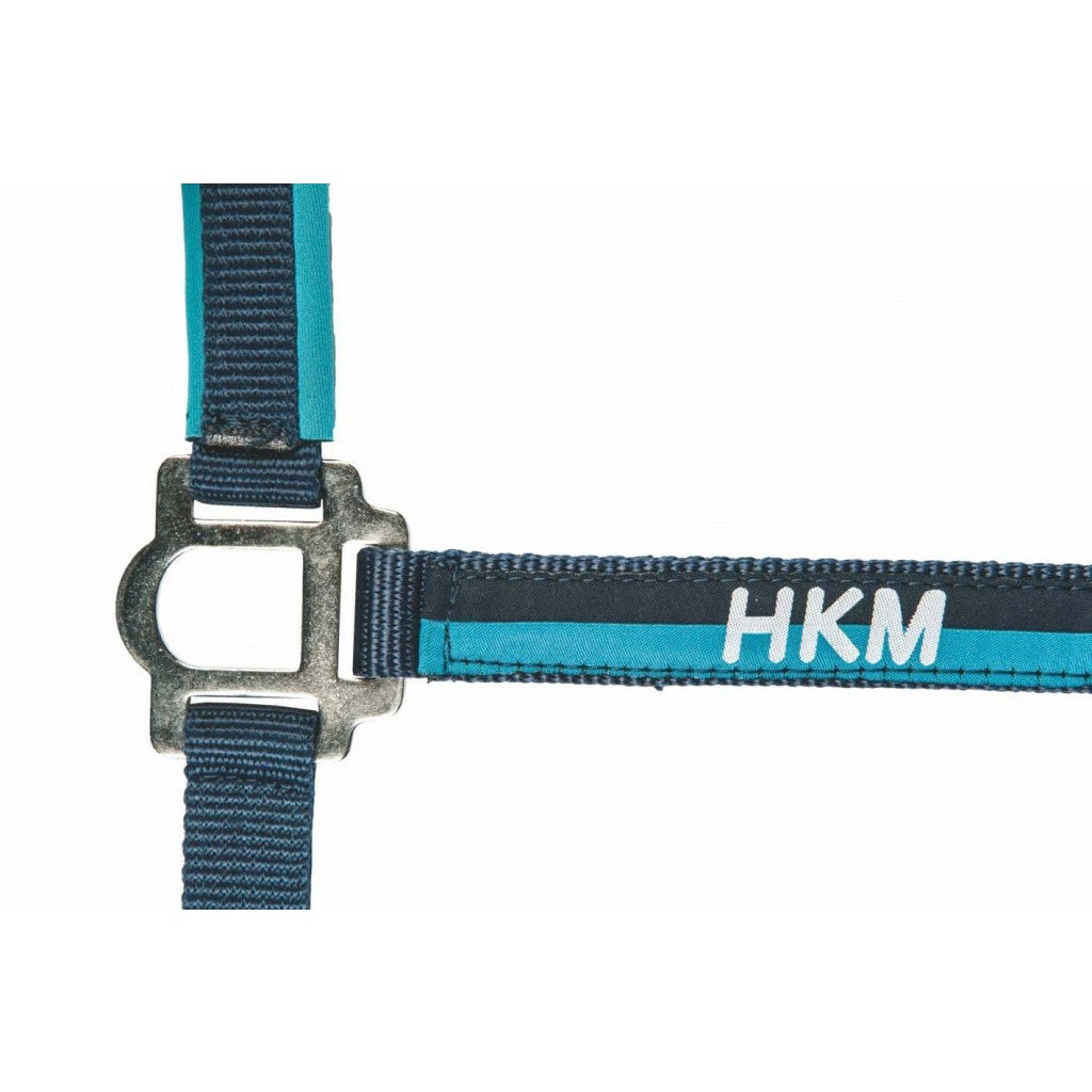 Navy/Azure Nylon halter and lead rope