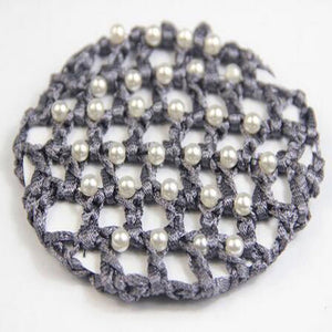 Dark Grey Pearl Encrusted Hair Net