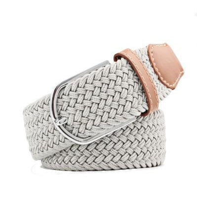 Light Grey Elastic Braided Belt