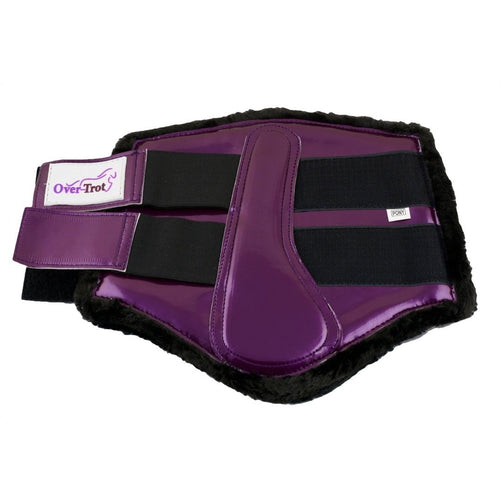 Metallic Purple Tendon Boots - Warmblood size