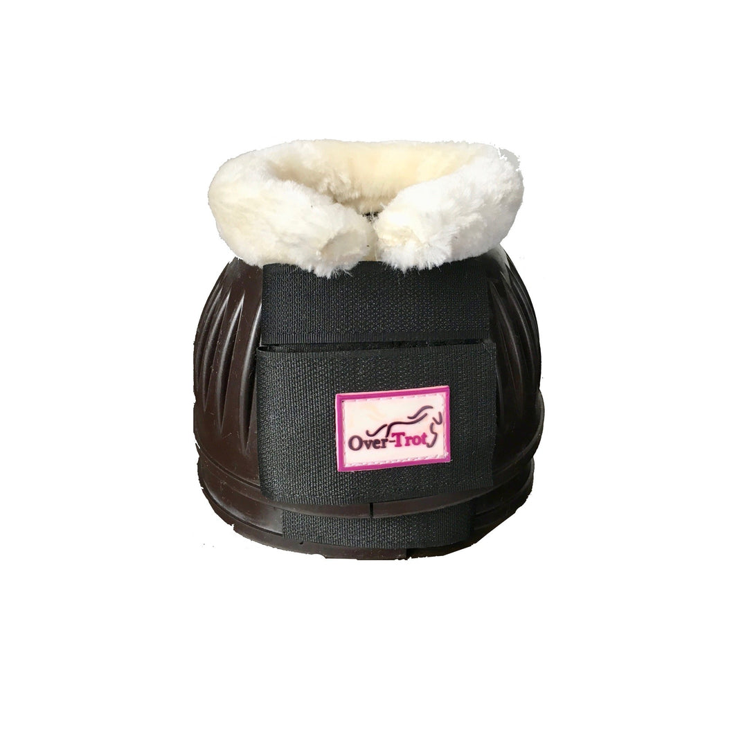 Mocha Rubber Bell Boots with fleece