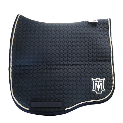 Navy Dressage Eurofit Saddle Pad - Large size