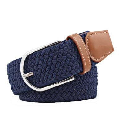 Navy Elastic Braided Belt