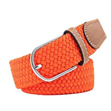 Orange Elastic Braided Belt